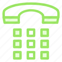 call, dail, office, phone, telephone, workicon icon