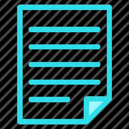 blue, circle, document, file, form, note, reporticon icon