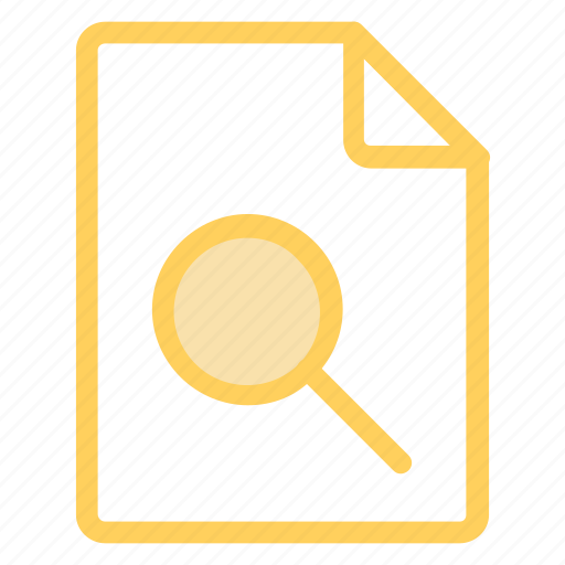 details, examine, file, research, search, studyicon icon