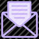 e, emailnewsletter, mail, newsletter, newslettericon, open icon