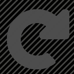 arrow, browser, refresh, reload, web icon