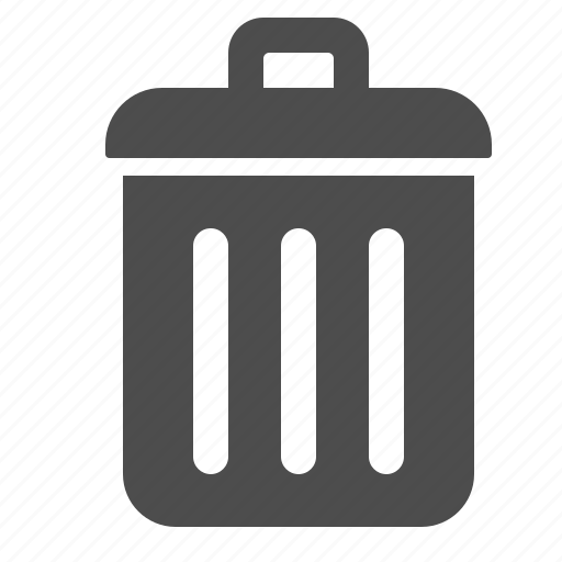 delete, garbage, remove, trash, trash can icon