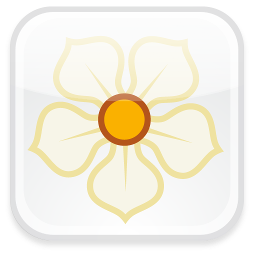 badge, magnolia icon