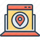 contemporary, direction, gadget, map, marker, navigation, website map icon