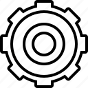 ambience, cogwheel, context, progress, setting, sprocket, surroundings icon
