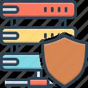 bulwark, escutcheon, internet, network, safeguard, sever, shield