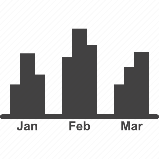 accounting, monthly, monthly accounting, report, revenue icon