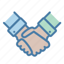 agreement, collaboration, handshake, partners icon