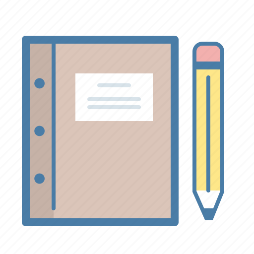 book, compose, diary, notepad, pencil, sketch, write icon