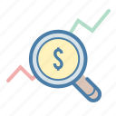 graph, growth, money, statistics icon