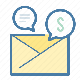 business, chat, dollar, email, envelope, money, talk icon