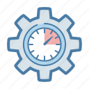 clock, management, settings, time icon