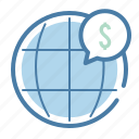 currency, exchange, international, trade, world icon