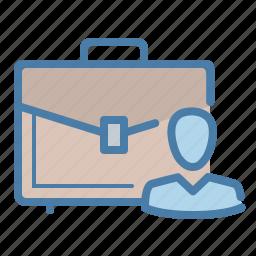 bag, briefcase, business, businessman, case, folio, portfolio icon