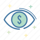 analytics, eye, pay per view, sales report icon