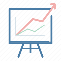 analytics, blackboard, graph, presentation, sales report, statistics, strategy icon