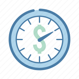 clock, dollar, hourly, management, money, rate, time icon