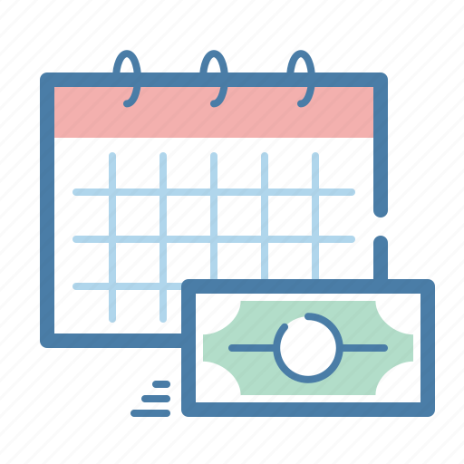 calendar, money, payday, scheduled payment icon