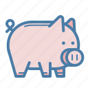 cash, money, money box, pig, piggy, save, saving icon