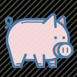 cash, guardar, money, money box, pig, piggy, save, saving icon