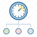 clock, management, team, time icon