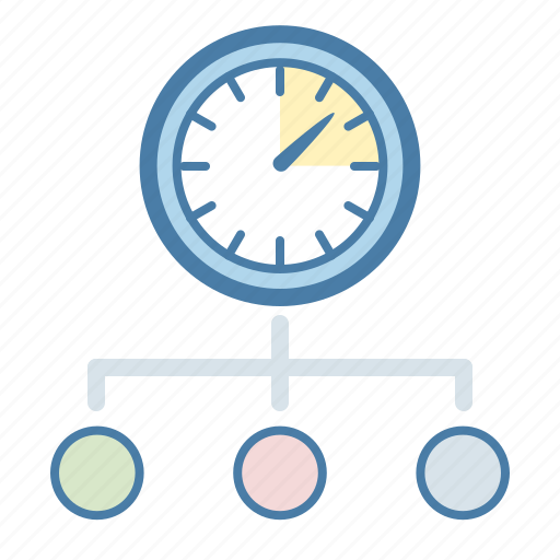 clock, itteraction, manage, management, team, time, work icon