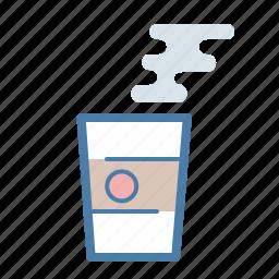 coffee, cup, drink, hot, mug, steam, tea icon