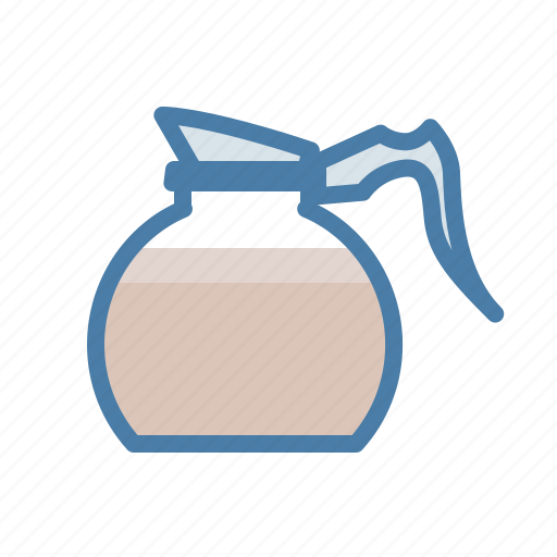 coffee, drink, hot, office, pot, refill icon