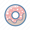 breakfast, coffee, dessert, donut, food, snack, sweet icon