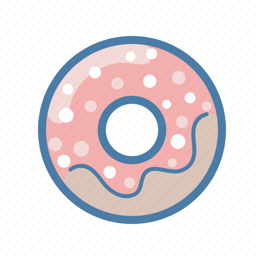breakfast, coffee, dessert, donut, food, snack, sweet icon