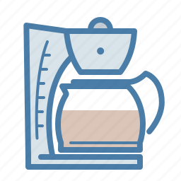 cafe, coffee, drink, filtration, hot, machine, pot icon