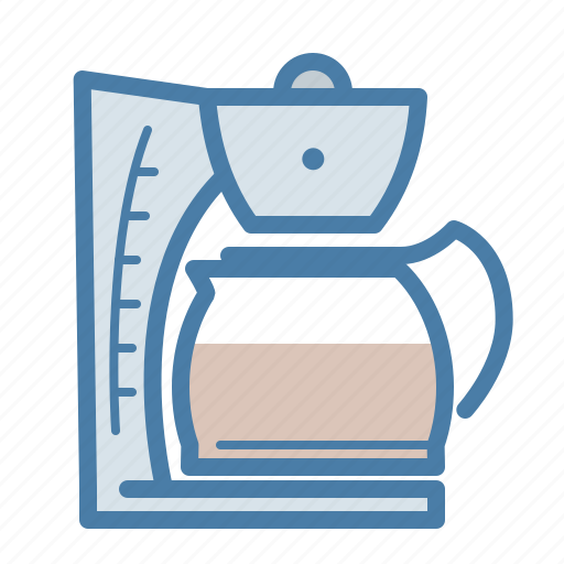 Cafe, coffee, drink, filtration, hot, machine, pot icon - Download on Iconfinder