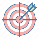 aim, purpose, strategy, target icon