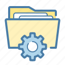 directory, documents, folder, settings icon