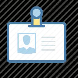 badge, id card, identification, identity, pass, passport, profile icon