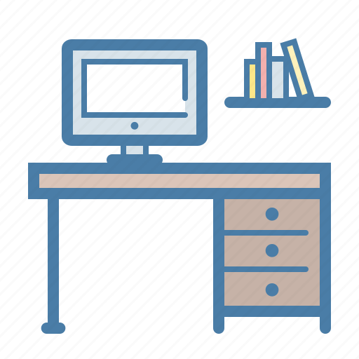 desk, monitor, office, place, table, work, working icon
