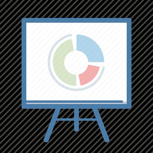 analytics, blackboard, chart, office, presentation, report, statistics icon