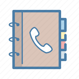 address, book, call, contact list, contacts, notepad, phone icon