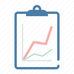 analytics, clipboard, document, graph, office, report, statistics icon