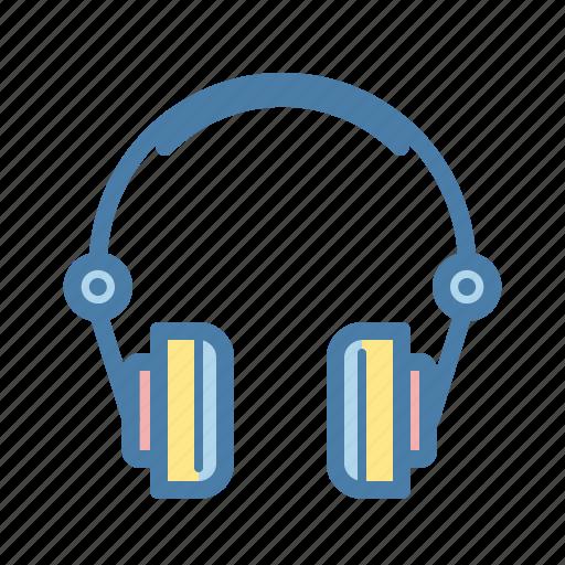 audio, earphone, headphones, listen, multimedia, music, office icon