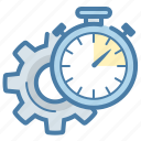 efficiency, stopwatch, time management, timer icon
