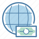 currency, finance, global, money icon