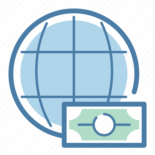 currency, finance, global, internation, money, payment, planet icon