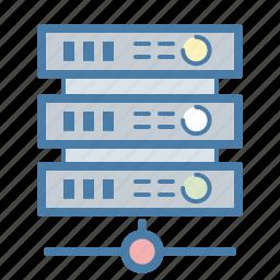 array, cluster, computing, data center, hosting, server, storage icon