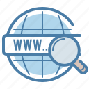 domain, internet, network, search engine icon
