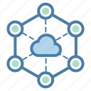 cloud computing, connection, network, share icon