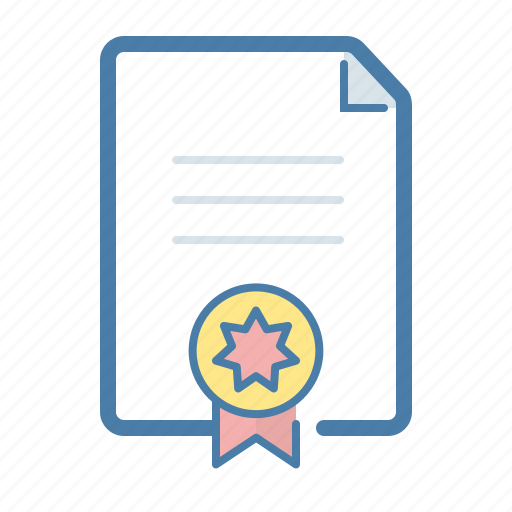 agreement, certificate, contract, sealed icon