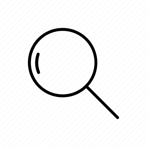 lens, loupe, magnifying glass, search, searching, zoom icon