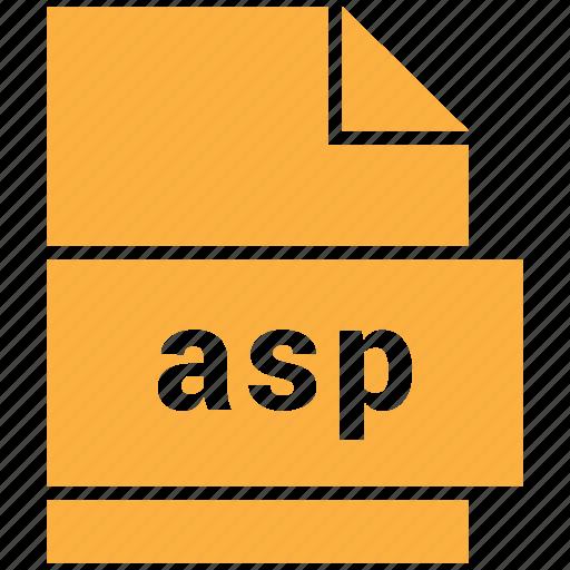 asp, data format, filetype, website file format icon