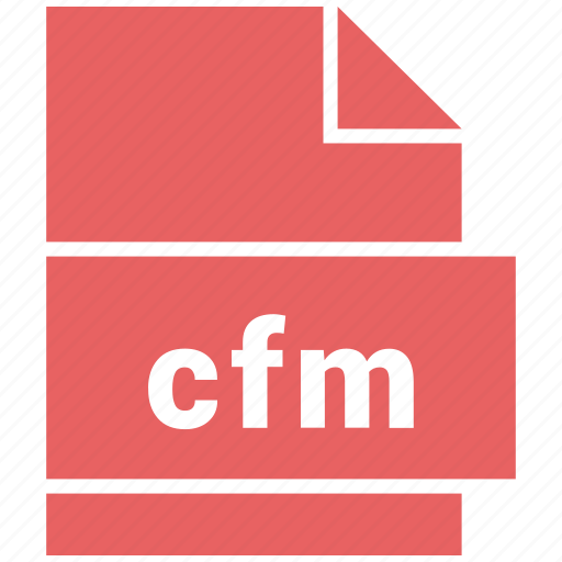 cfm, file, format, website file format icon